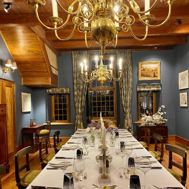 Downtown Abbey meet South African heritage...and the most incredible dinner was served @hazendal_estate with Michelle Theron at the helm of the kitchen abs responsible for all the fantastic culinary offers at Hazendal!!! What a treat!   #finedining  #localeats #winelandsdining
